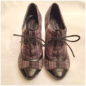 Steve Madden Patent Leather, Canvas Oxford Heels